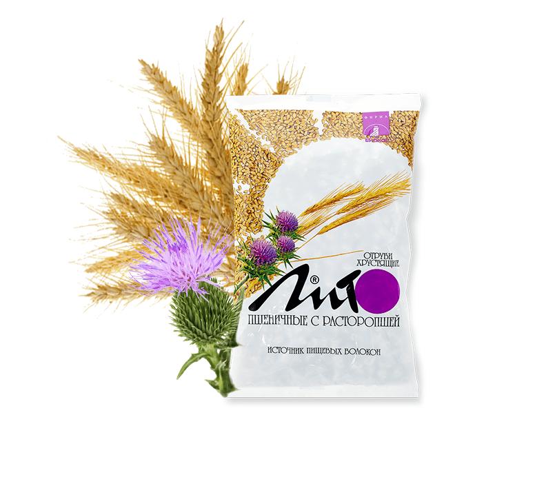 Отруби пшеничные хрустящие «ЛИТО» с кальцием и расторопшей