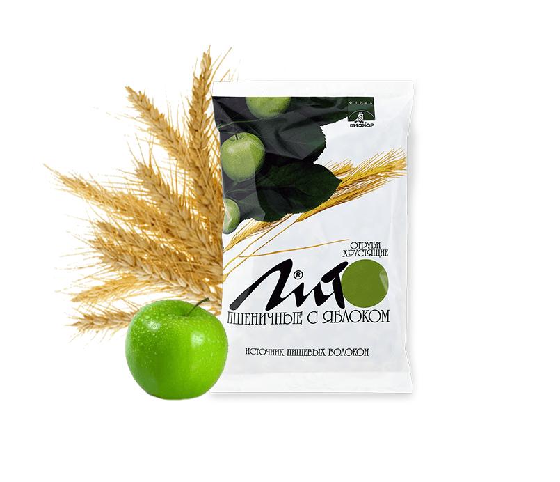Отруби пшеничные хрустящие «ЛИТО» с кальцием и яблоком